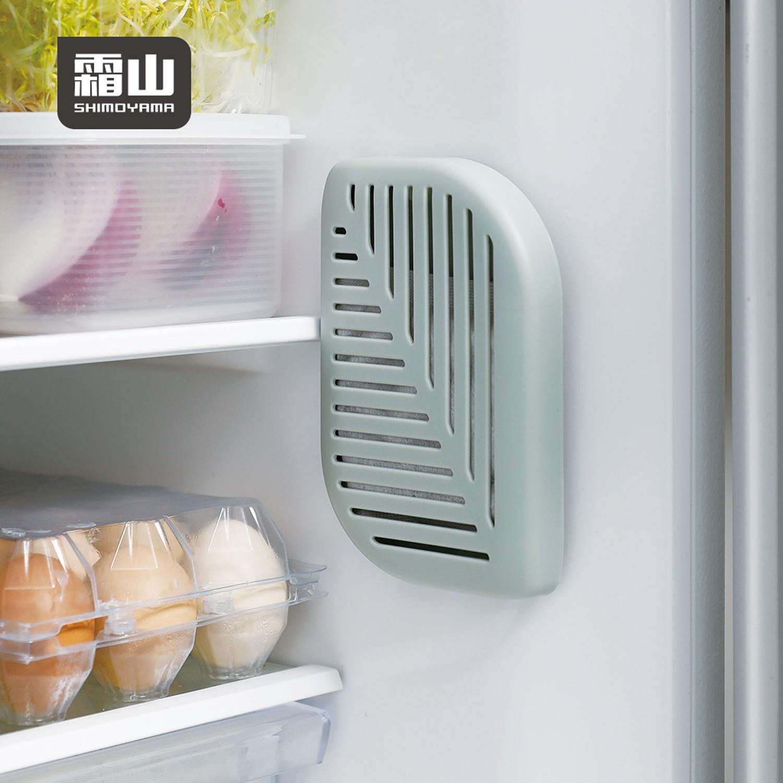 日本霜山 - 活性碳冰箱除臭去味/衣櫃防潮吸濕盒(附背膠)-3入