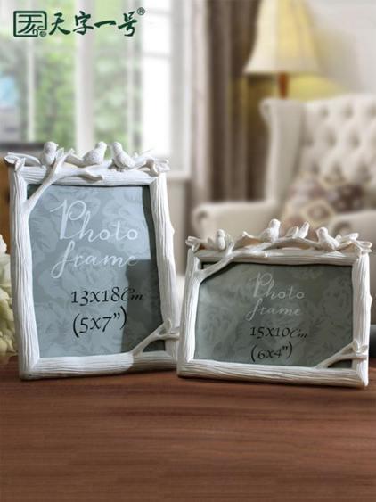 【618購物狂歡節】相框擺台個性創意照片框七寸六寸 5 6 7 8寸像框相架樹脂可愛韓版