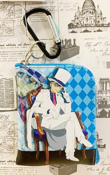 【震撼日式精品】名偵探柯南Detective Conan~怪盜基德零錢包附扣-淺藍*50105