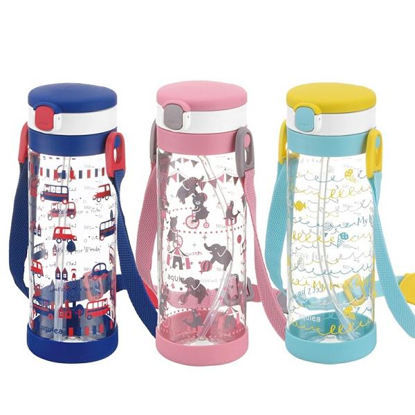 日本 Richell 利其爾 第一代Aqulea LC 吸管式冷水壺 450ml - 貝克街/粉紅派對/棒棒糖【六甲媽咪】
