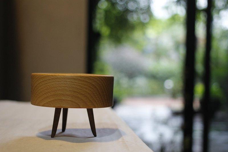 桌面收納 花器 創意擺件 鑰匙零錢首飾 櫸木/黑胡桃木