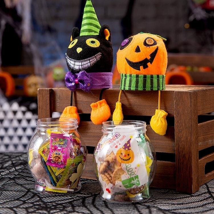 萬聖節裝飾 萬聖節惡搞南瓜黑貓巫婆糖果罐糖果盒場地布置道具裝飾品創意禮物 清涼一夏特價