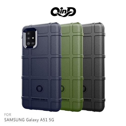 QinD SAMSUNG Galaxy A51 5G 戰術護盾保護套