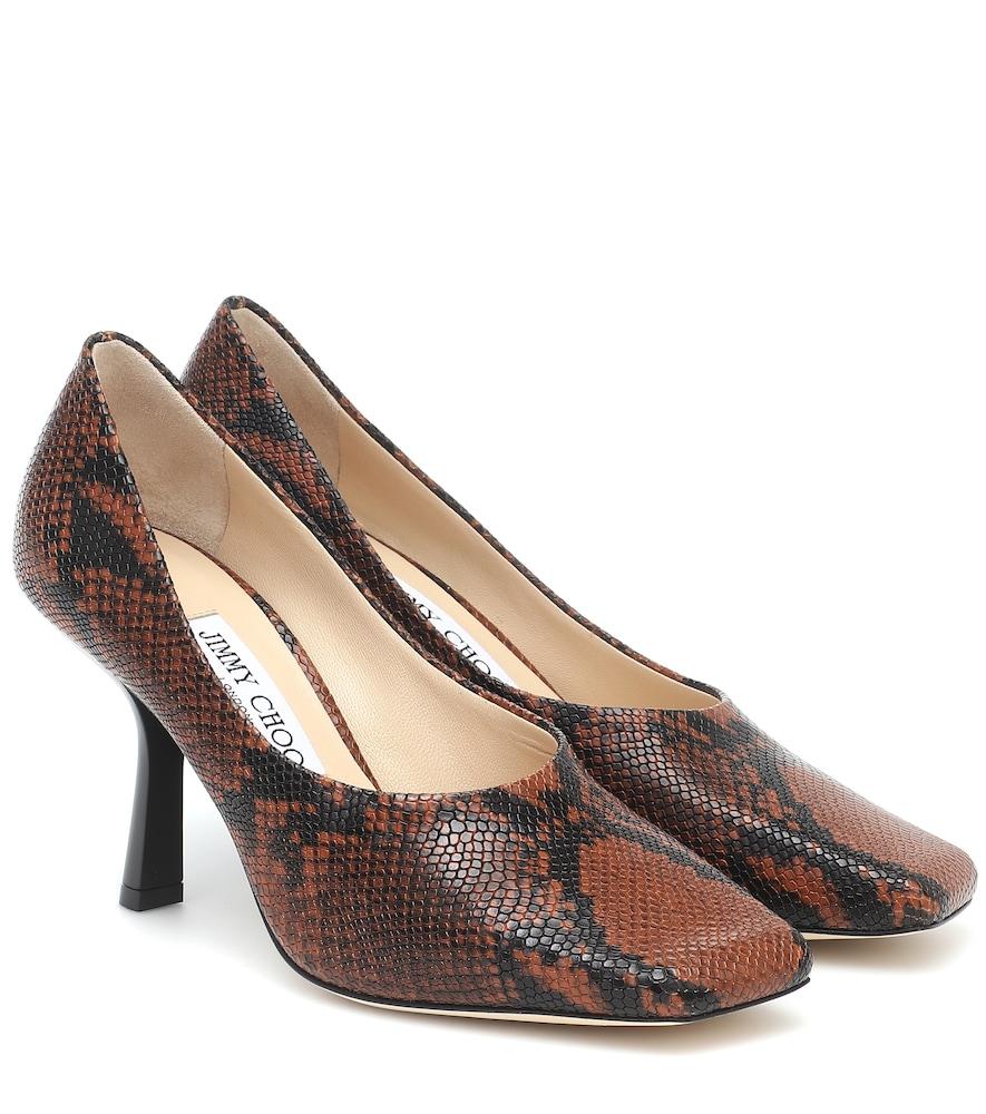 Marcela 85 snake-print leather pumps