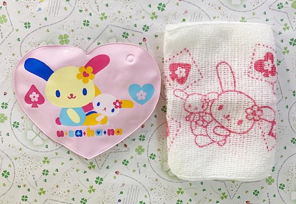 【震撼精品百貨】U-Sa-Ha-Na_花小兔~三麗鷗花兔子外出型沐浴巾附袋#86212