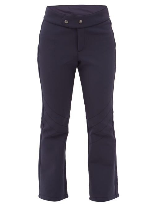 Bogner - Emilia Flared Soft-shell Ski Trousers - Womens - Navy