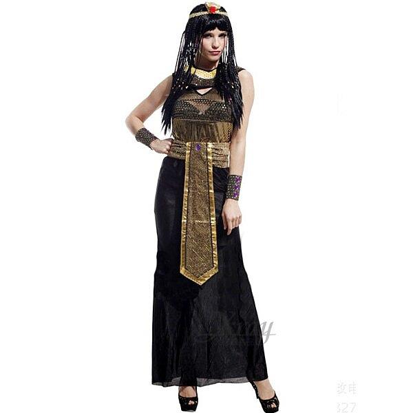 埃及豔后裝(黑色),化妝舞會/角色扮演/尾牙表演/萬聖節/聖誕節/變裝派對,X射線【W642515】