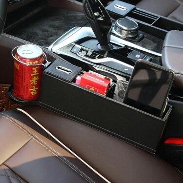 汽車收納盒座椅夾縫車用水杯架車載多功能縫隙汽車儲物盒內飾裝飾 中秋免運