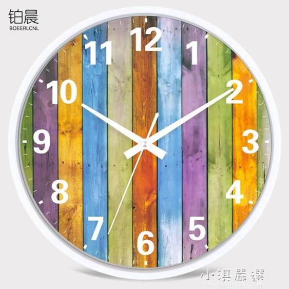 鐘錶時尚掛鐘臥室卡通時鐘圓創意掛錶簡約現代客廳靜音石英鐘