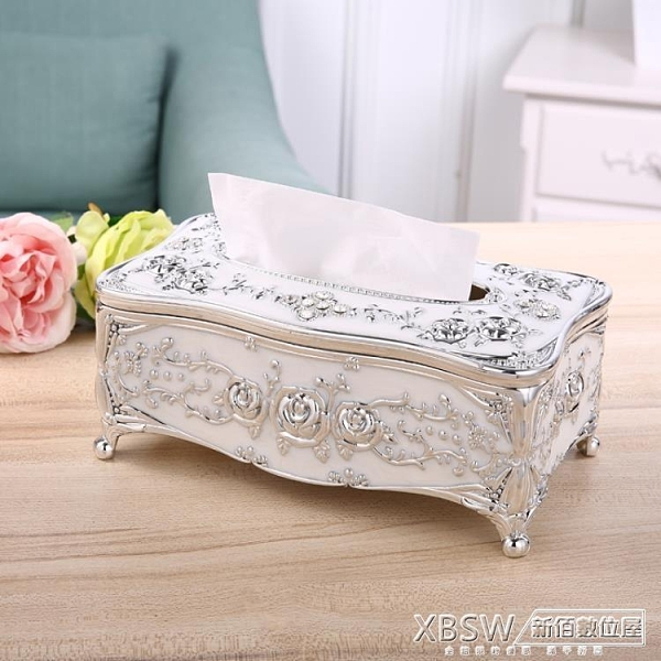 面紙盒抽紙巾盒美容院專用創意歐式桌面客廳收納盒餐巾紙簡約『新佰數位屋』