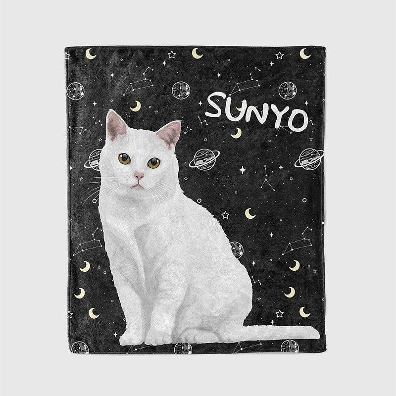 客製化 | 手繪寵物毛毯/被子/空調毯/法蘭絨 | 60種以上背景任選
