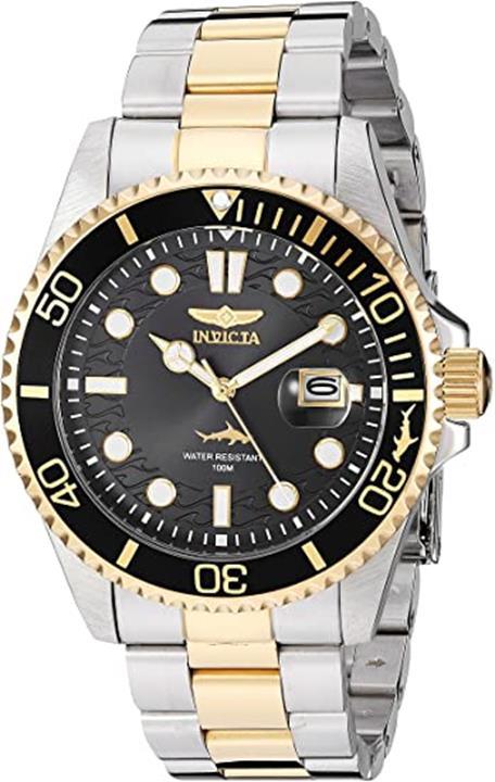 【美國代購】Invicta Pro Diver男士石英石英錶帶不銹鋼錶帶 兩色 22(型號:30023)