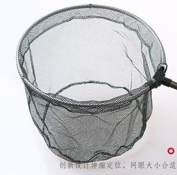 撈魚網兜 釣魚抄網鋁合金撈魚網伸縮桿折疊頭操網抄魚網魚抄網兜漁魚具用品