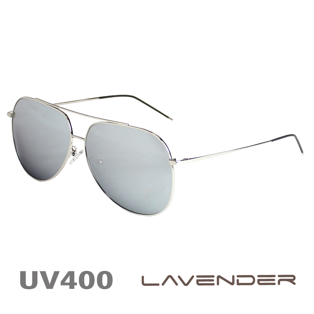 Lavender偏光太陽眼鏡 飛官雷朋款 白水銀 8074 C5