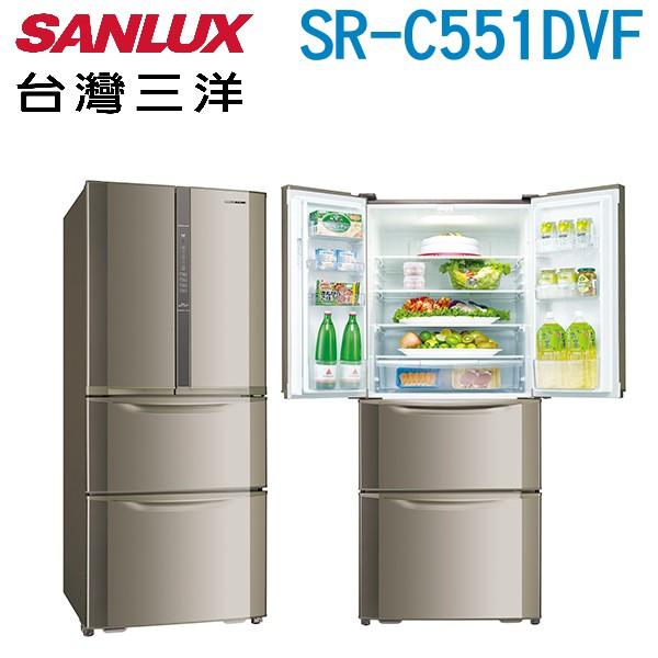 SANLUX 台灣三洋 551公升二級能效變頻四門冰箱SR-C551DVF