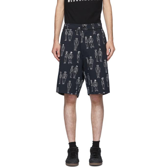 Moschino 海军蓝 Fantasy Print 短裤