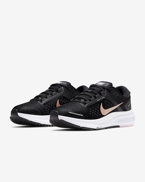 NIKE系列-AIR ZOOM STRUCTURE 23 女款黑粉金運動慢跑鞋-NO.CZ6721005