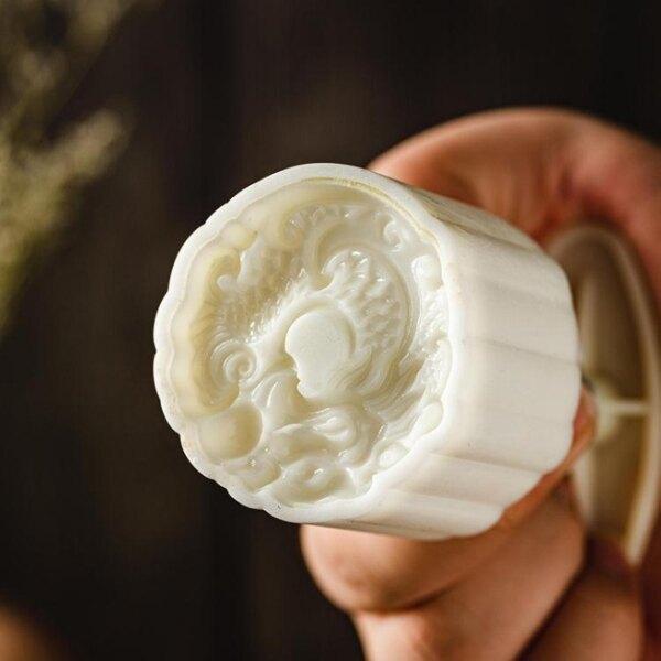 月餅模具 月餅模具新款網紅中國風麒麟龍家用手壓式烘焙月餅模型印具[優品生活館]