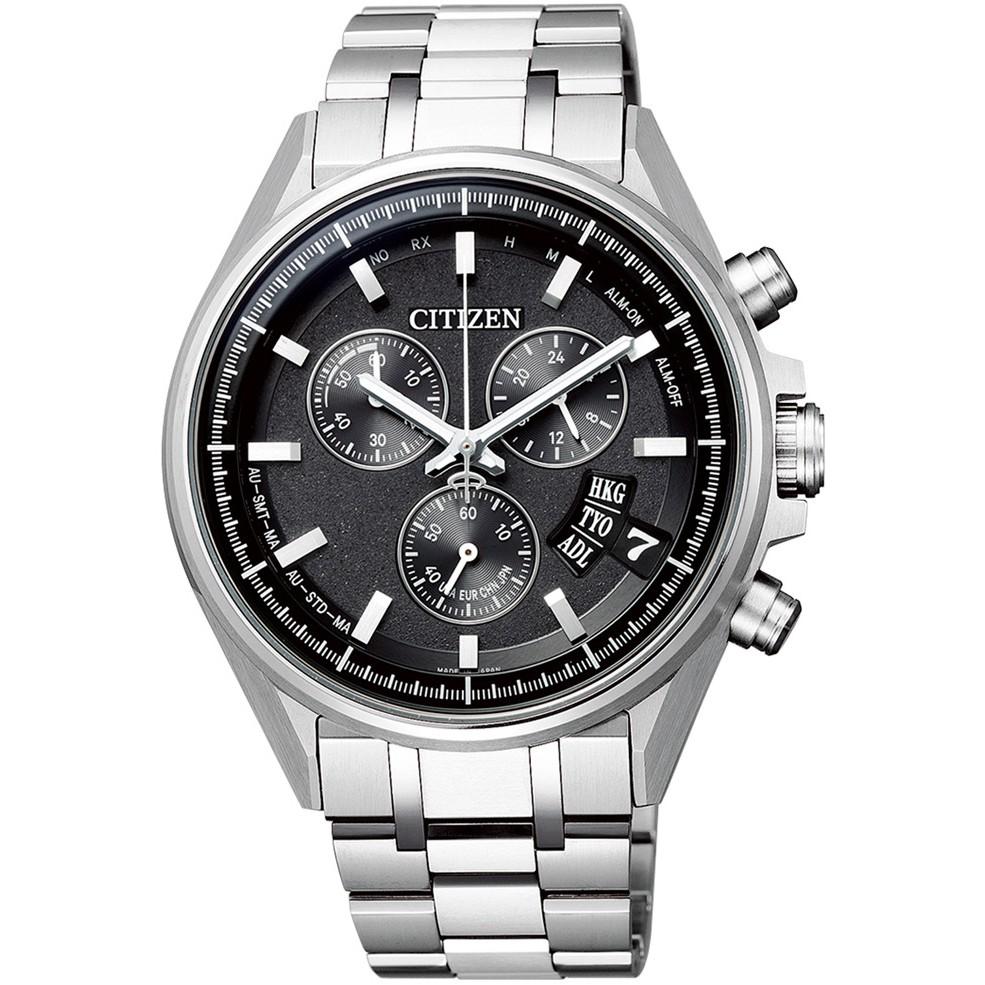 CITIZEN星辰 BY0140-57E 光動能電波對時時尚男錶