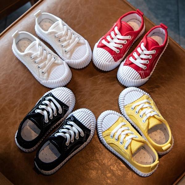 兒童帆布鞋女 小寶寶鞋春秋款兒童帆布鞋秋季女童鞋餅干鞋男童板鞋幼兒園小白鞋