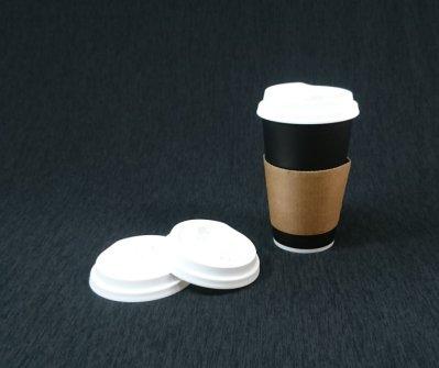 含稅50組 【16oz 冷熱共用杯+霧圈白凸蓋+紙杯套】冷熱杯 霧透杯 冷飲杯 熱飲杯 全黑杯 黑色咖啡杯 黑色杯 紙杯