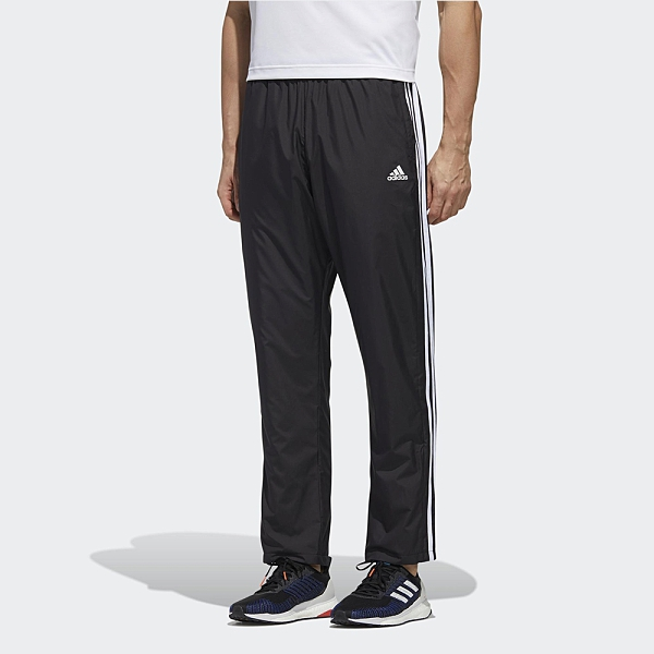 Adidas 3-STRIPES 男款黑色運動長褲-NO.GE0428