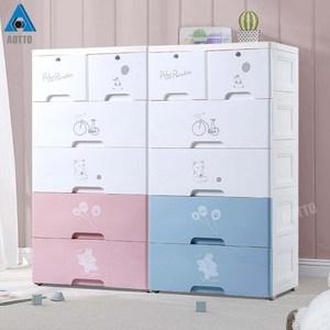 【AOTTO】58面寬童趣兒童五層抽屜收納櫃 衣櫃(兒童衣櫃 四色可選大肚灰