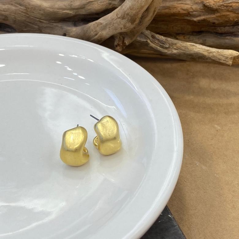 韓國空運 - Noi matte bold nickel-free needle earrings 耳環