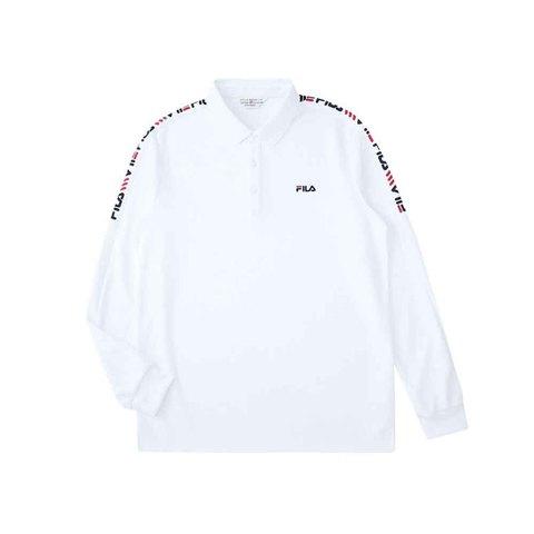 FILA 男POLO衫-白色 1POU-5455-WT