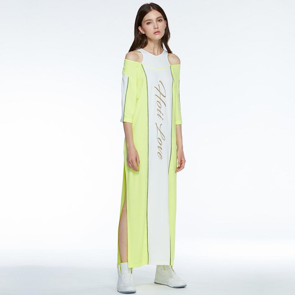 【HOII后益】HOII LOVE長版洋裝(三色:黃/紅/藍)