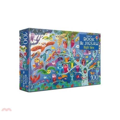 Usborne Book and Jigsaw: Night Time(書+拼圖)【三民網路書店】(盒裝)[69折]