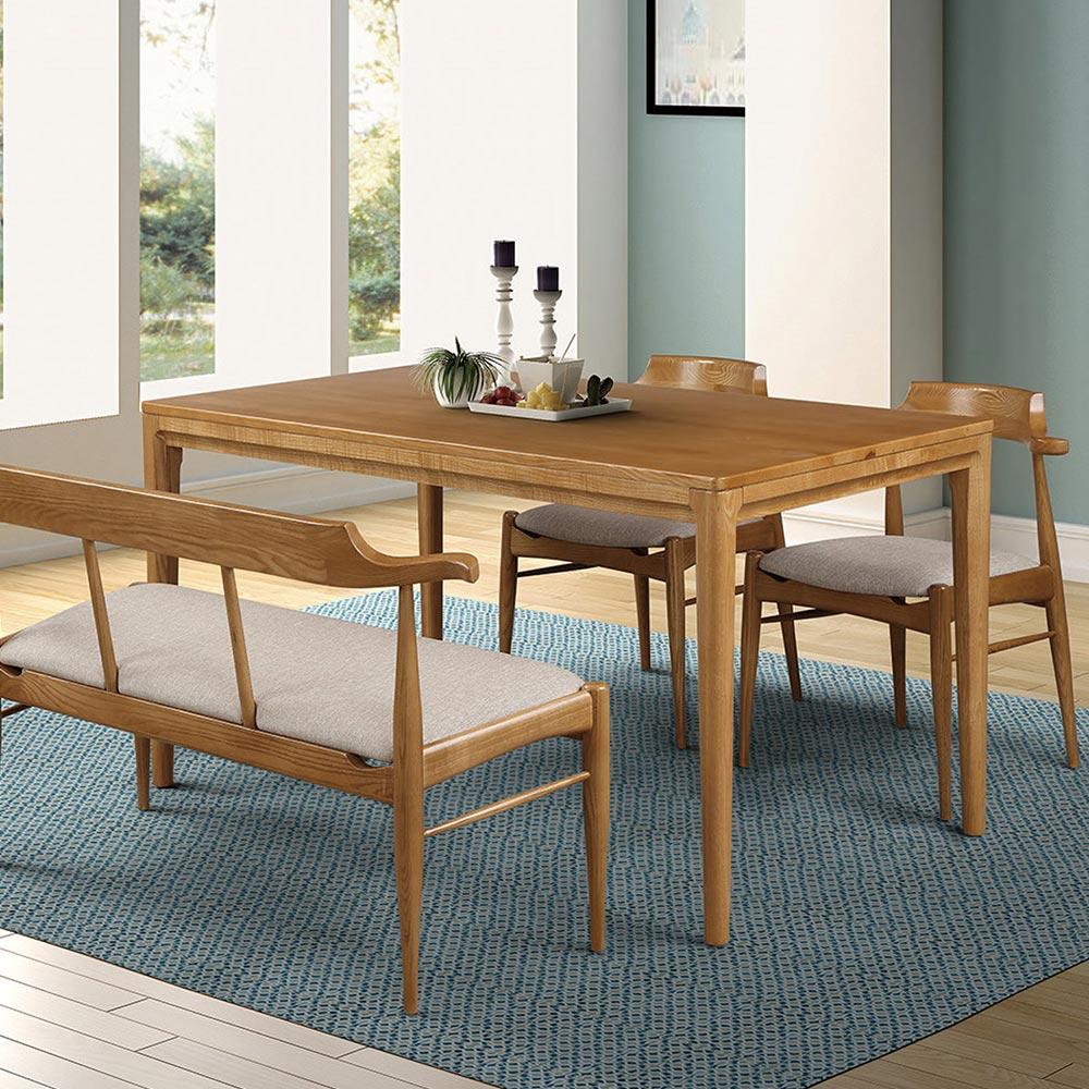 梅長蘇4.6尺栓木餐桌/H&D東稻家居-消費滿3千送點數10%