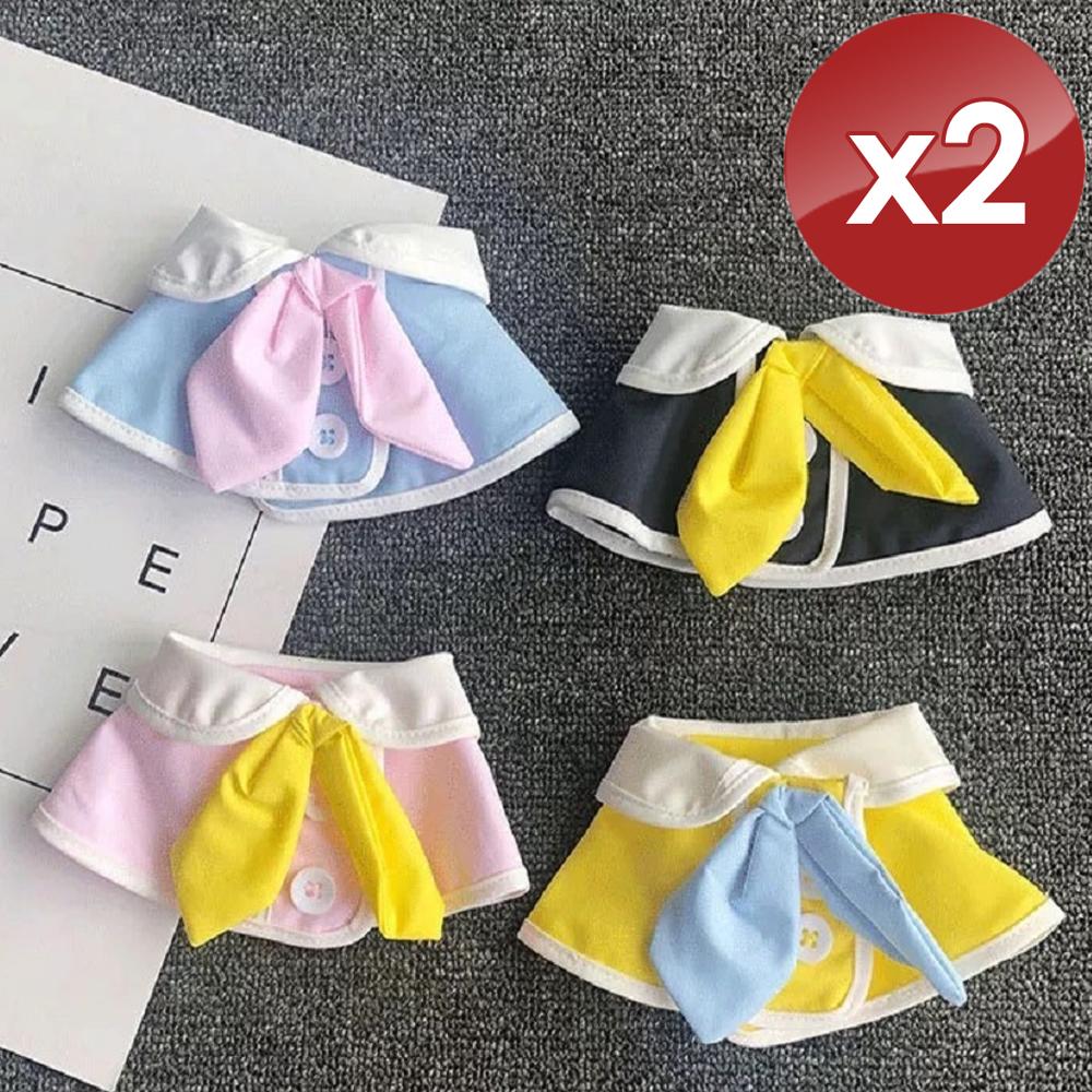 【QIDINA】寶貝寵物高質感圍兜/口水巾-2入組