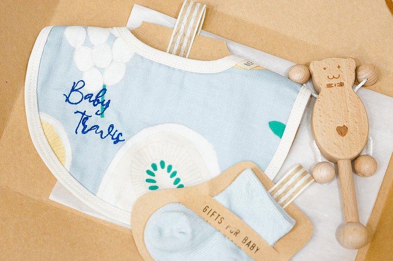 嬰兒客制化刺繡圍巾禮物【窩心推薦】水果圍巾