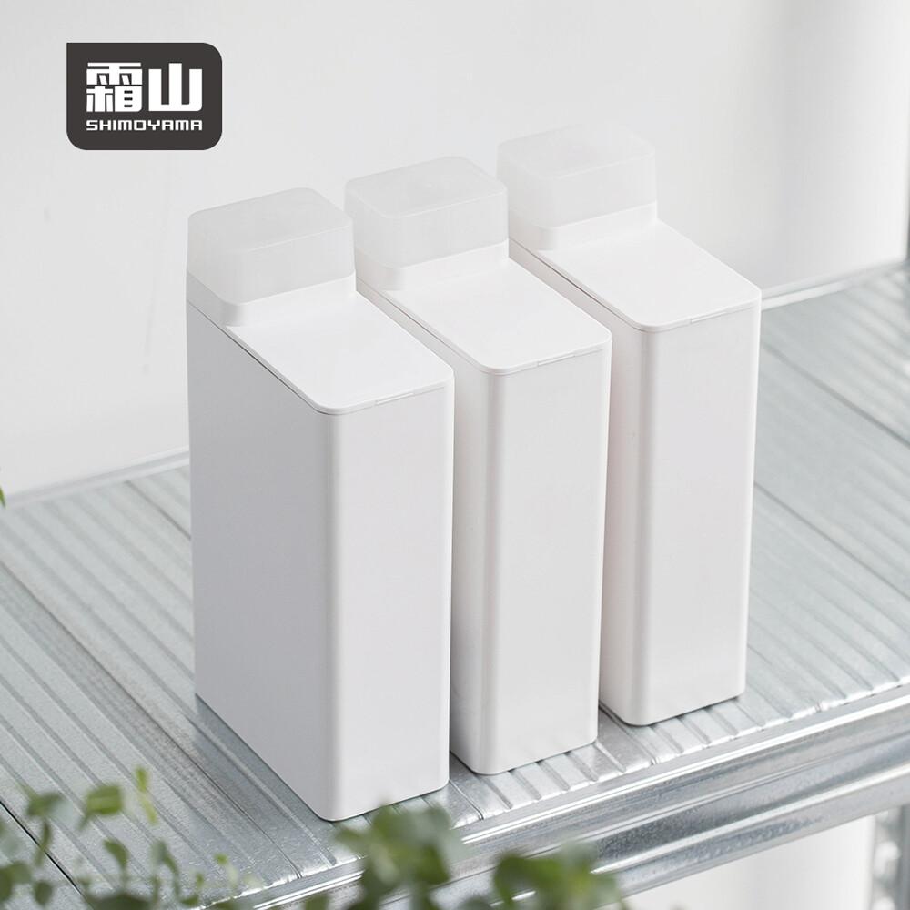 日本霜山abs可計量密封洗衣精/柔軟精分裝瓶-700ml-3入組