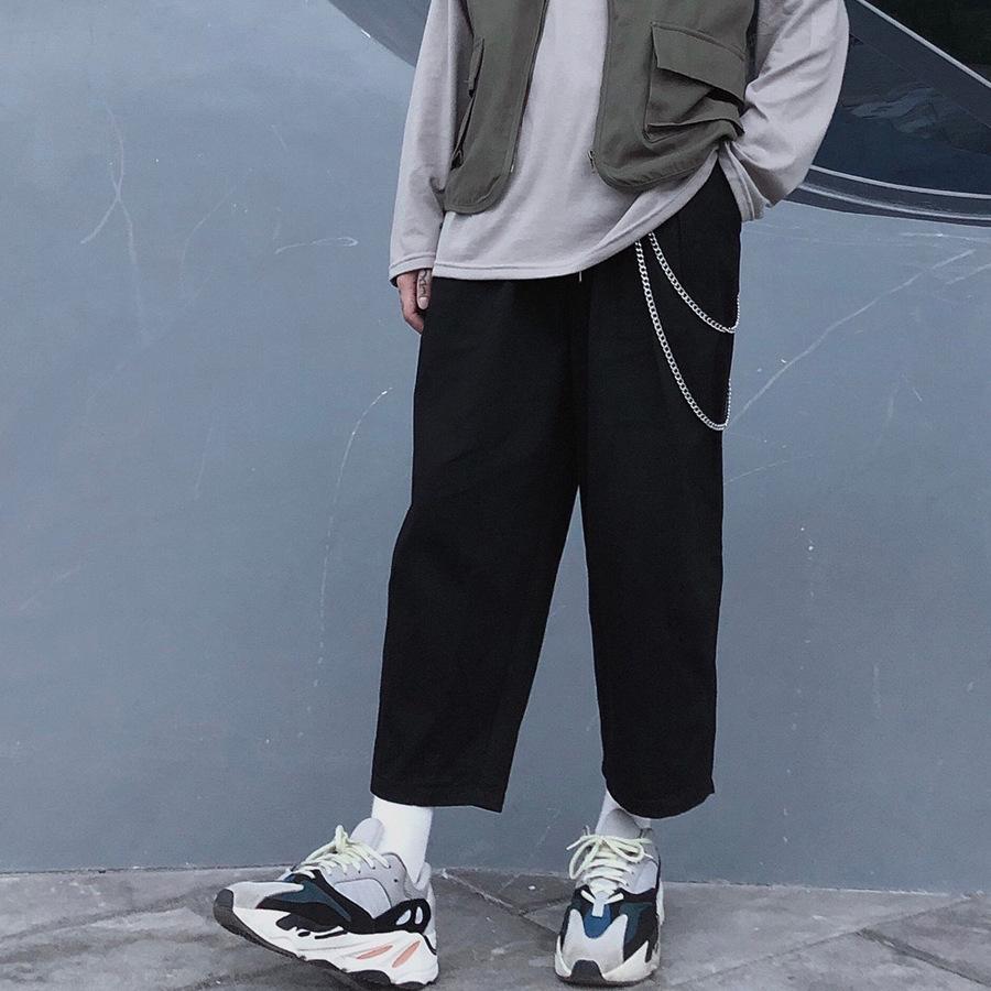 寬版剪裁.素面立體錐形褲