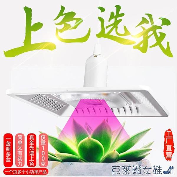 e27多肉補光燈家用上色全光譜室內LED燈泡綠植物生長燈仿太陽日照 快速出貨