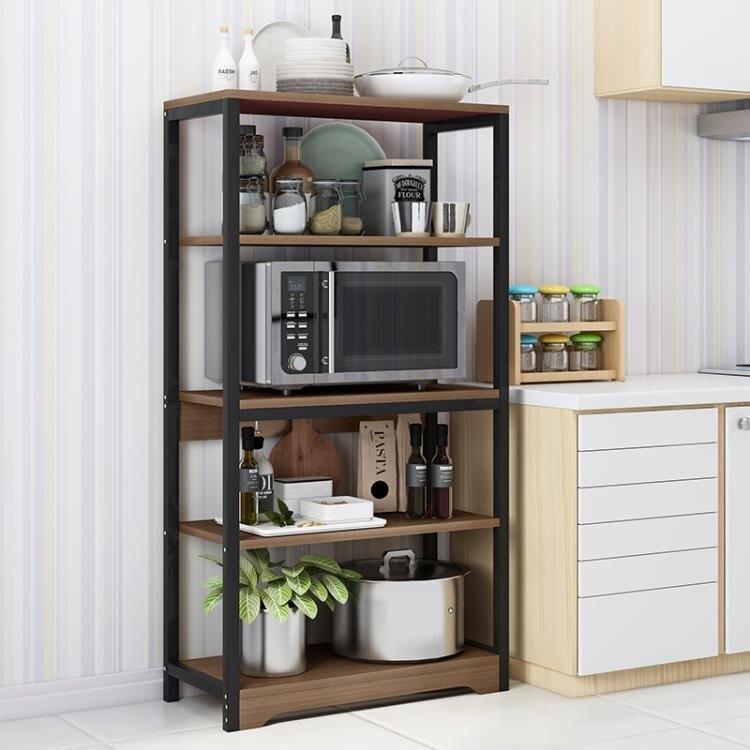 微波爐架 廚房置物架落地多層微波爐架家用烤箱三層儲物架子廚房用  LX  聖誕節禮物