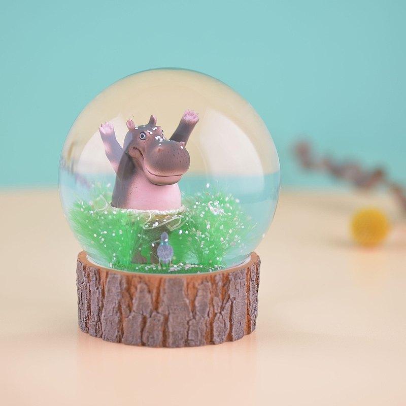 河馬樂樂夢舞台 水晶球擺飾 台灣設計展 限定款