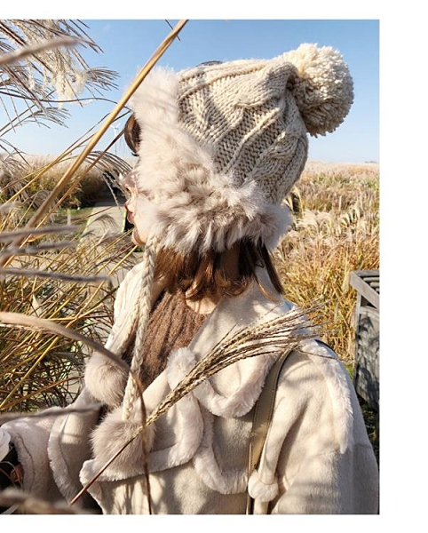 秋冬季毛線帽女