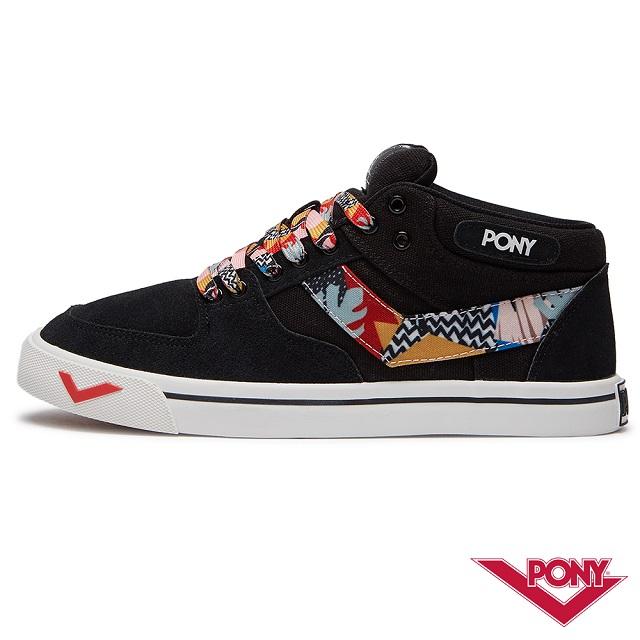 【PONY】ATOP系列 經典滑板鞋 運動鞋 板鞋 女款 黑