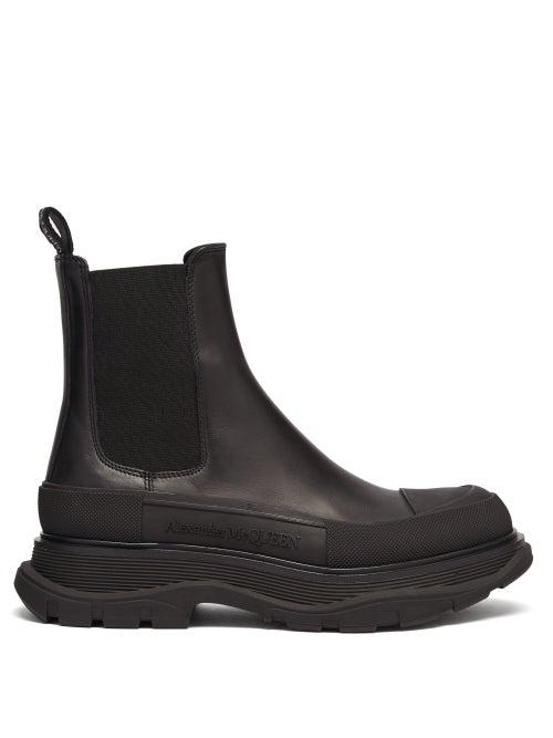 Alexander Mcqueen - Tread Leather Chelsea Boots - Womens - Black