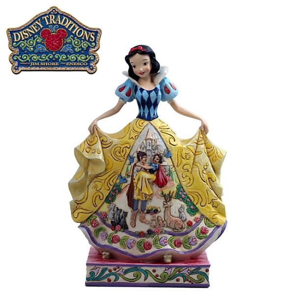 【正版授權】Enesco 白雪公主 裙襬場景 塑像 公仔 精品雕塑 迪士尼 Disney - 119252