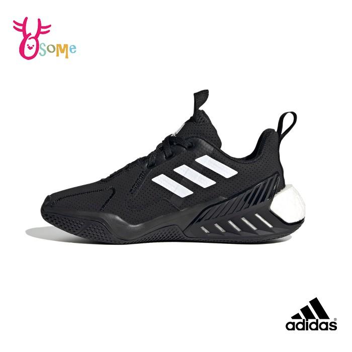 adidas運動鞋 女鞋 慢跑鞋 跑步鞋 耐磨避震 寬楦 跑鞋 4UTURE ONE S9367黑色OSOME奧森鞋業