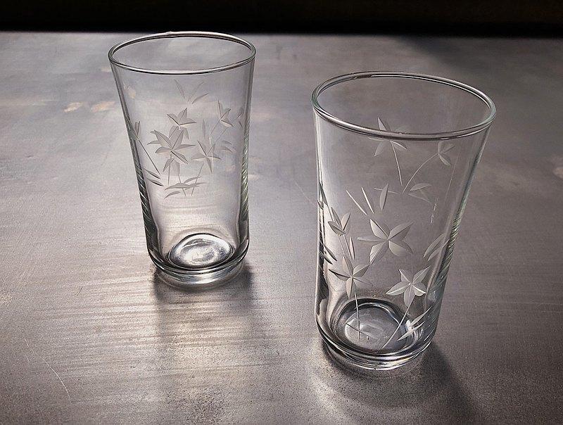 早期日本銅輪玻璃酒杯