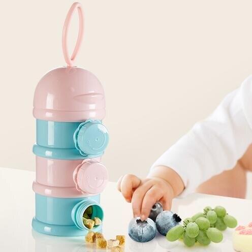 【降價兩天】蒂愛奶粉盒便攜式外出奶粉格儲存罐寶寶大容量密封防潮零食盒分裝