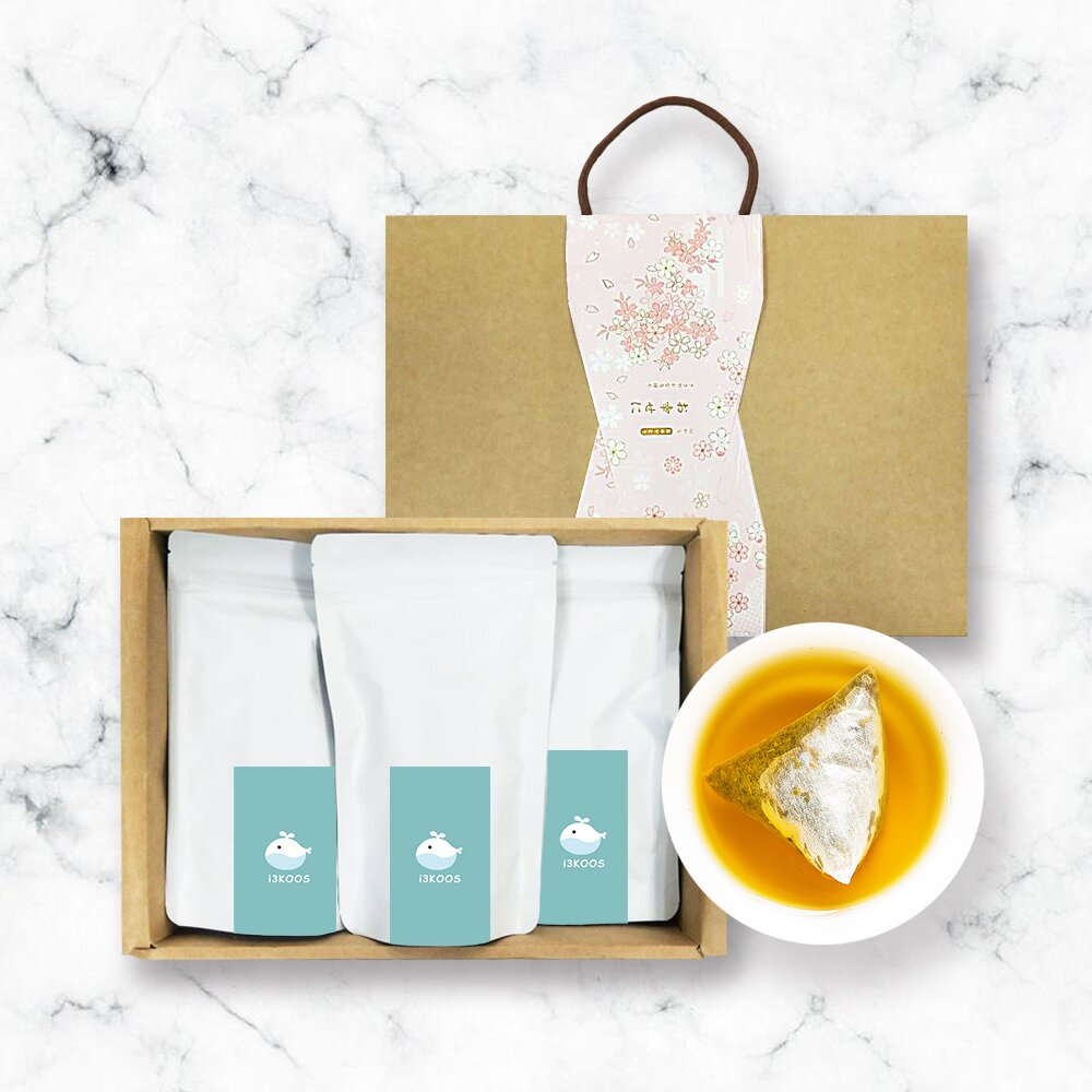 i3KOOS-金萱檸香綠茶(可冷泡)-禮盒組1組(3袋1盒)