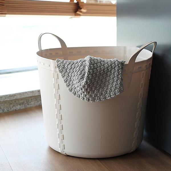 軟質塑料臟衣籃玩具收納筐 浴室洗衣籃臟衣服收納籃臟衣簍 WJ百分百