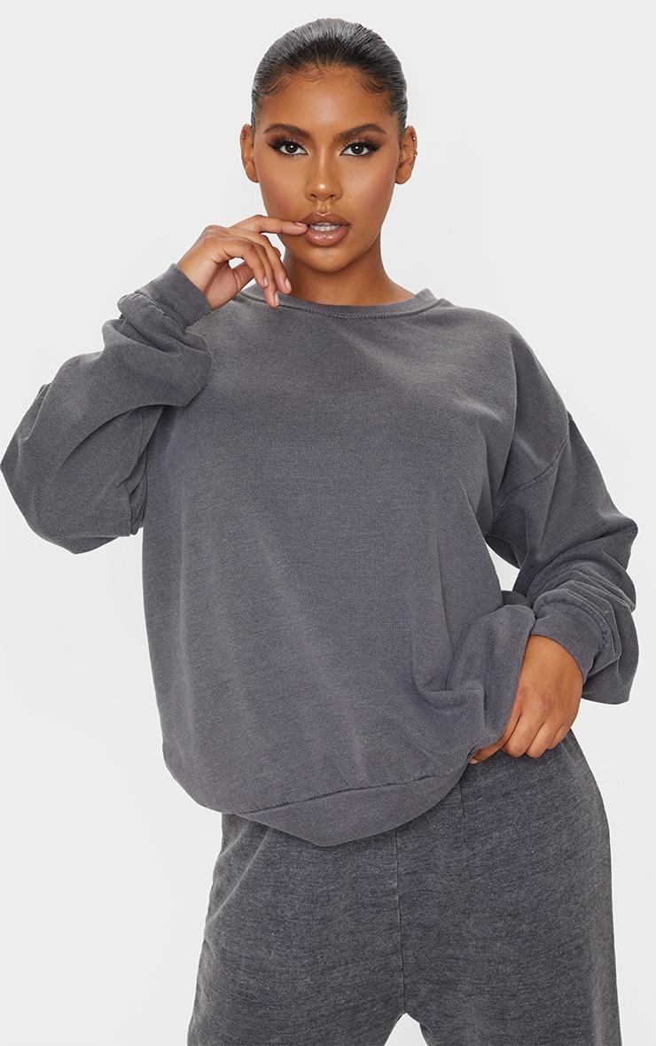 Charcoal Washed Sweatshirt