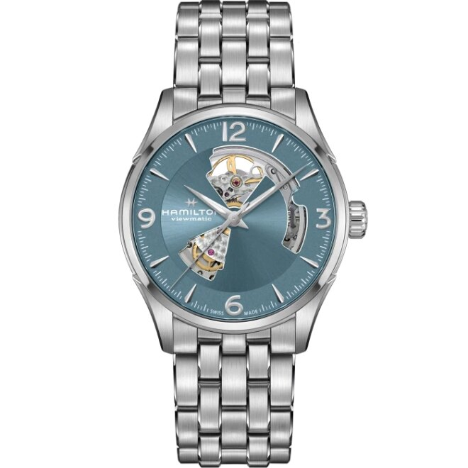 HAMILTON漢米爾頓 H32705142 / Open Heart Auto 爵士系列腕錶 / 42mm